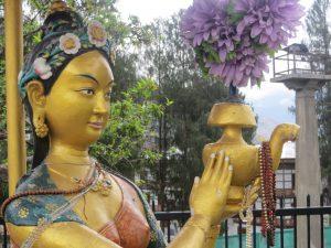 Die freundliche Göttin in Thimpu/Bhutan.