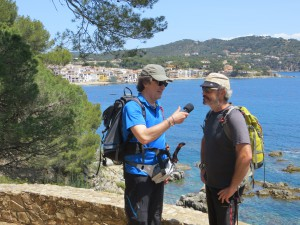 Interview mit Natxo Carreras am Cami de Ronda an der Costa Brava