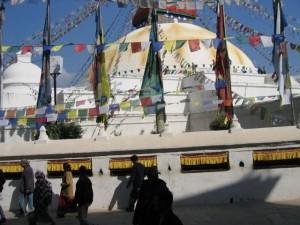 Der Stupa von Bodnath im Kathmandu-Tal